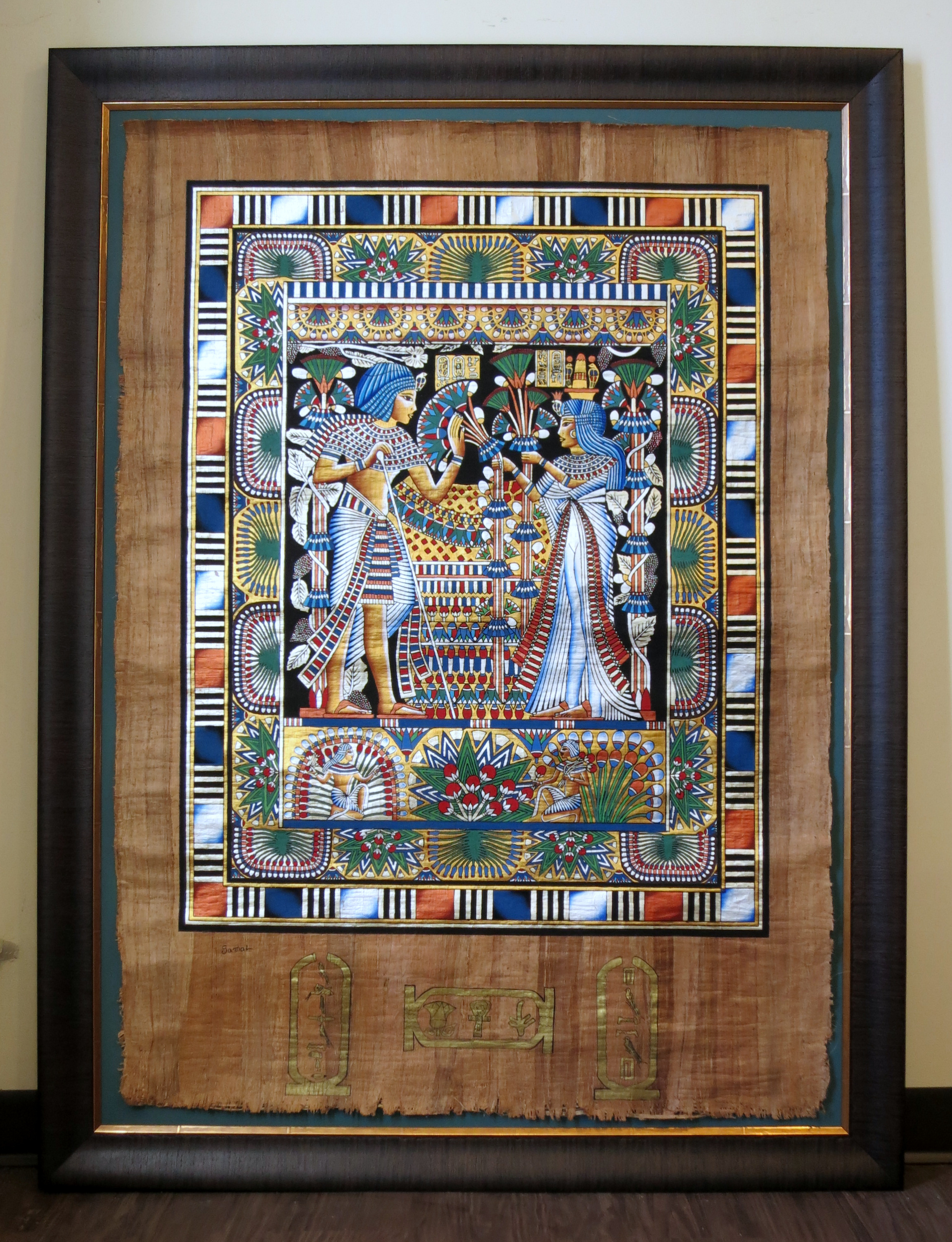 40×53″ Egyptian Papyrus – Four Sticks Picture Framing